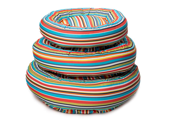 Canine Styles - Cotton Canvas - Reef Stripe - Dog Bed