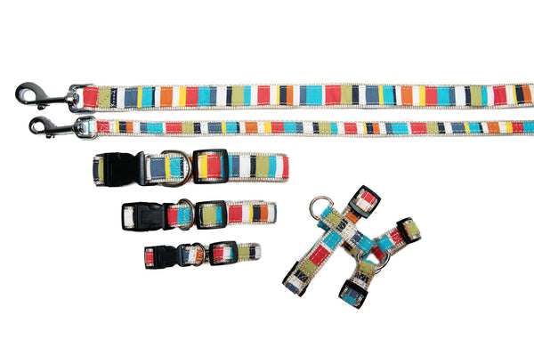Signature Collection - Collar, Harness, & Lead - Reef Stripe