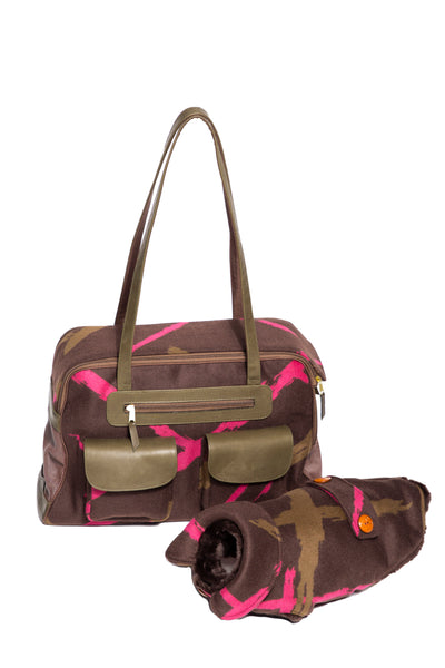 Fall - Dog Carrier - Blue or Brown Mod Carriers - & Coat