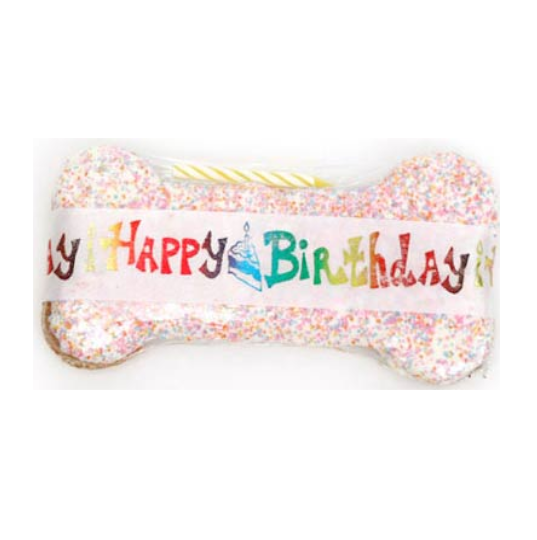 Specialty - Happy Birthday - Peanut Butter - Dog Bone - USA
