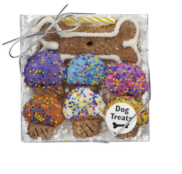 Specialty Treat - Happy Birthday - Mini Cupcake - Dog Treat - USA