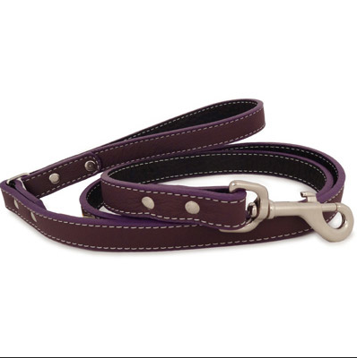 """A"" Dog Lead - Soft Leather - 10 Color Options - 4Ft & 6Ft"