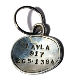 Sterling Silver | Hand-Stamped | Dog Tag | ID Tag