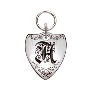 Sterling Silver | Crest |  ID Tag| Pet ID | Dog Tag