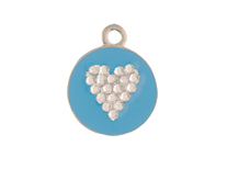 Crystal Hearts | Opaque Pastel | Personalized | ID Tag | Dog Tag
