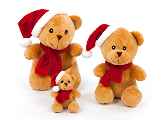 Holiday Toy - Holiday Bear - Squeaker Toy