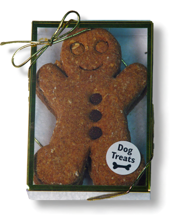 Dog Treat - Gingerbread Men - Cookie Box - Holiday Cookie