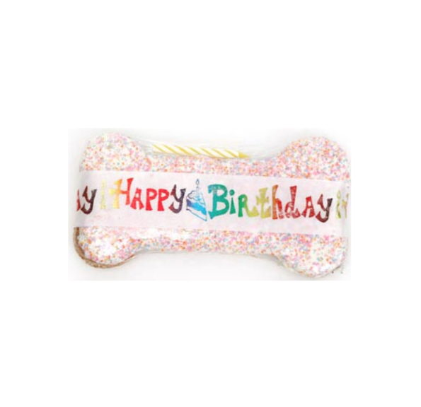 Specialty Treat | Happy Birthday | Peanut Butter | Dog Bone | Dog Treat