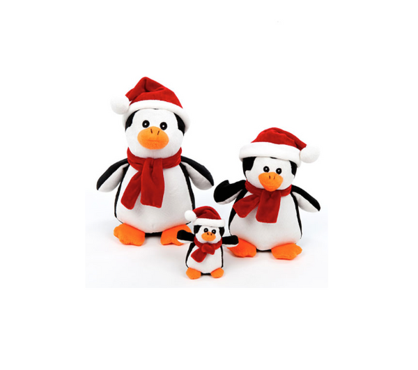 Holiday Penguin Toy - Squeaker Toy