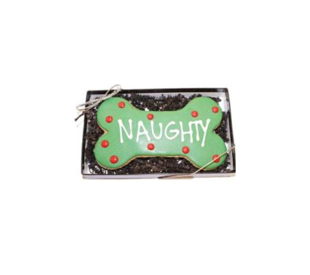 Dog Treat - Naughty Bone Cookie - Holiday Treat