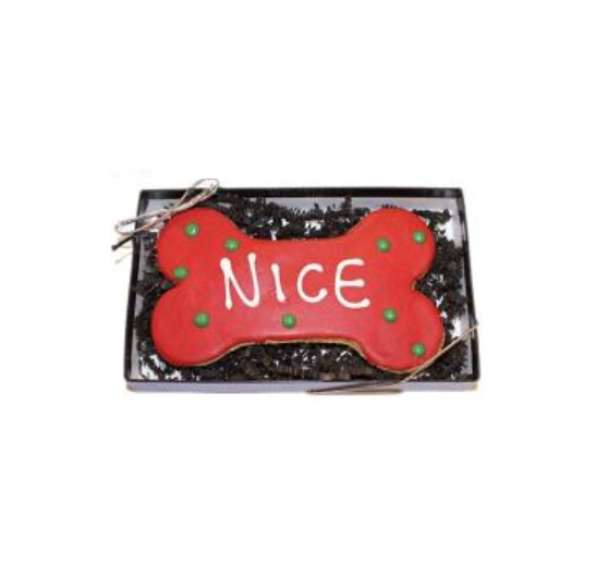 Dog Treat - Nice Bone Cookie - Holiday Treat