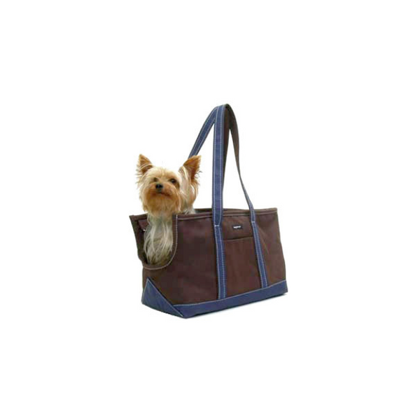 Dog Carrier - Winter Brown Canvas - Zippered Dog Carrier - 4 Color Options