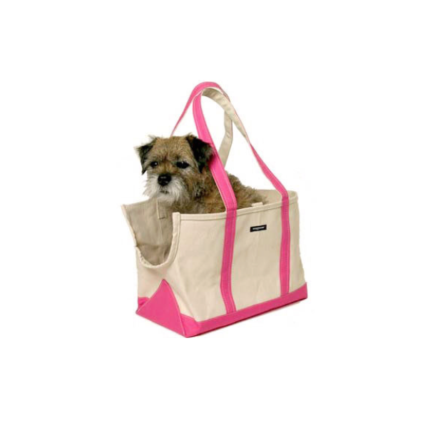 Dog Carrier - Summer Dog Bag, White Canvas, 6 Colors