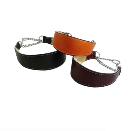 Dog Collar - Training Collar - Martingale Collar - Shearling Lining - 2 Color Options