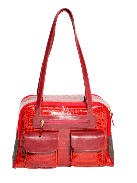 Fall - Dog Carrier - Couture Faux Alligator Bag