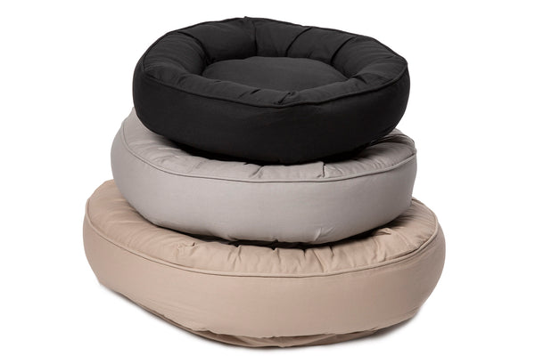 Canine Styles - Cotton Canvas - Monochromatic Nesting with self colored piping - Black Gray Tan