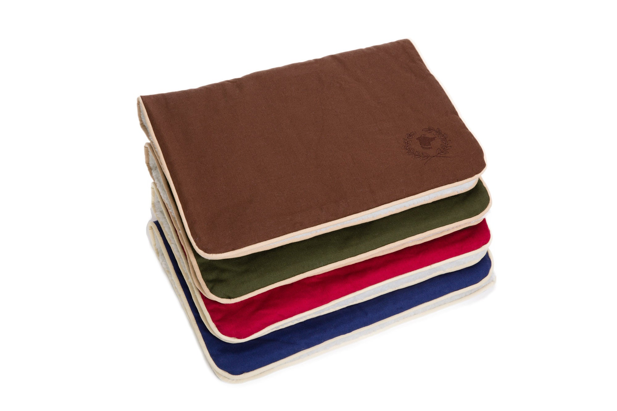 Crate Dog Mat, Blanket - Solid Colored Cotton Canvas - Dog Bed, 4 Colors