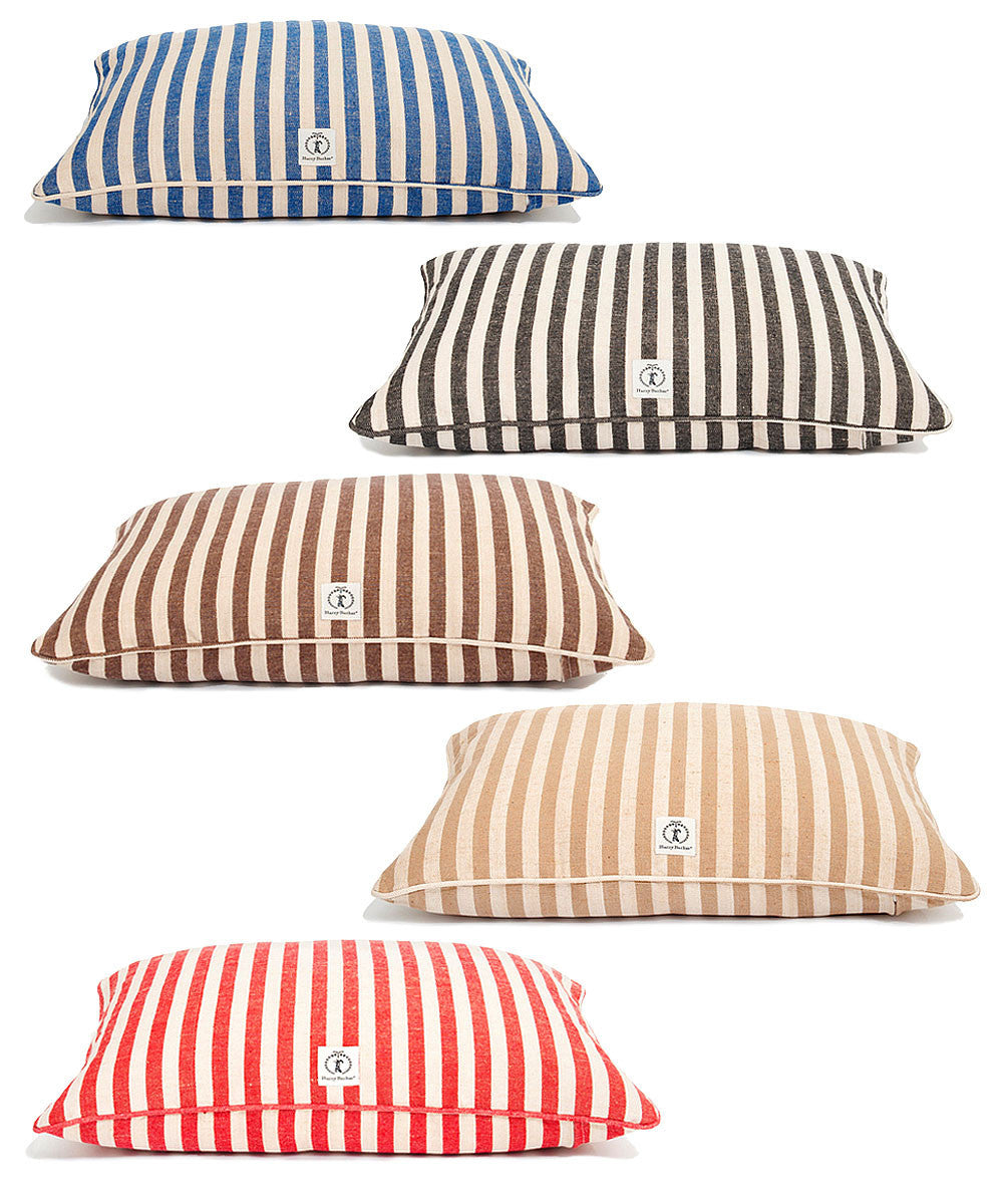 Hemp Envelope Bed - Vintage Stripe - Dog Cushion - Dog Bed | 5 Color Options