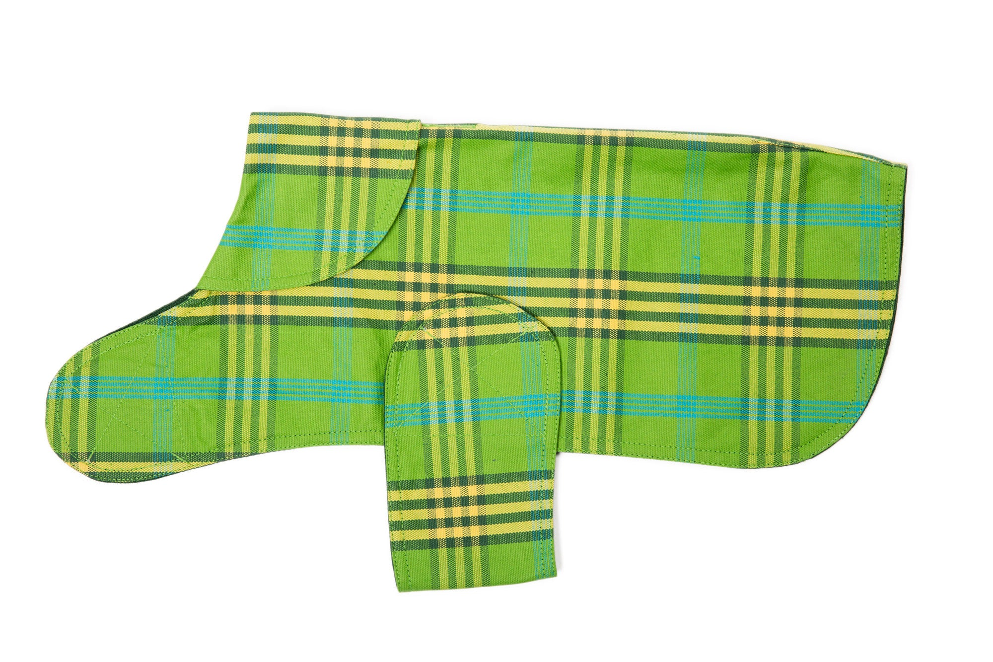 Dog Coat - Raincoat, Waxed Signature Green Plaid