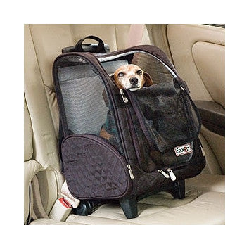 Travel Dog Snoozer - Nylon, See Through Bag, On Wheels, 2 Sizes