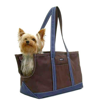 Wagwear | Brown Canvas | Pet Tote | Dog Carrier