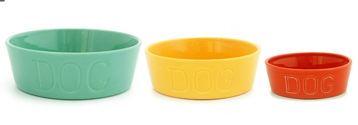 Bauer Pottery - Dog Bowl - 9 Color Options