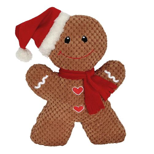 Holiday Dog Toys - Gingerbread Man