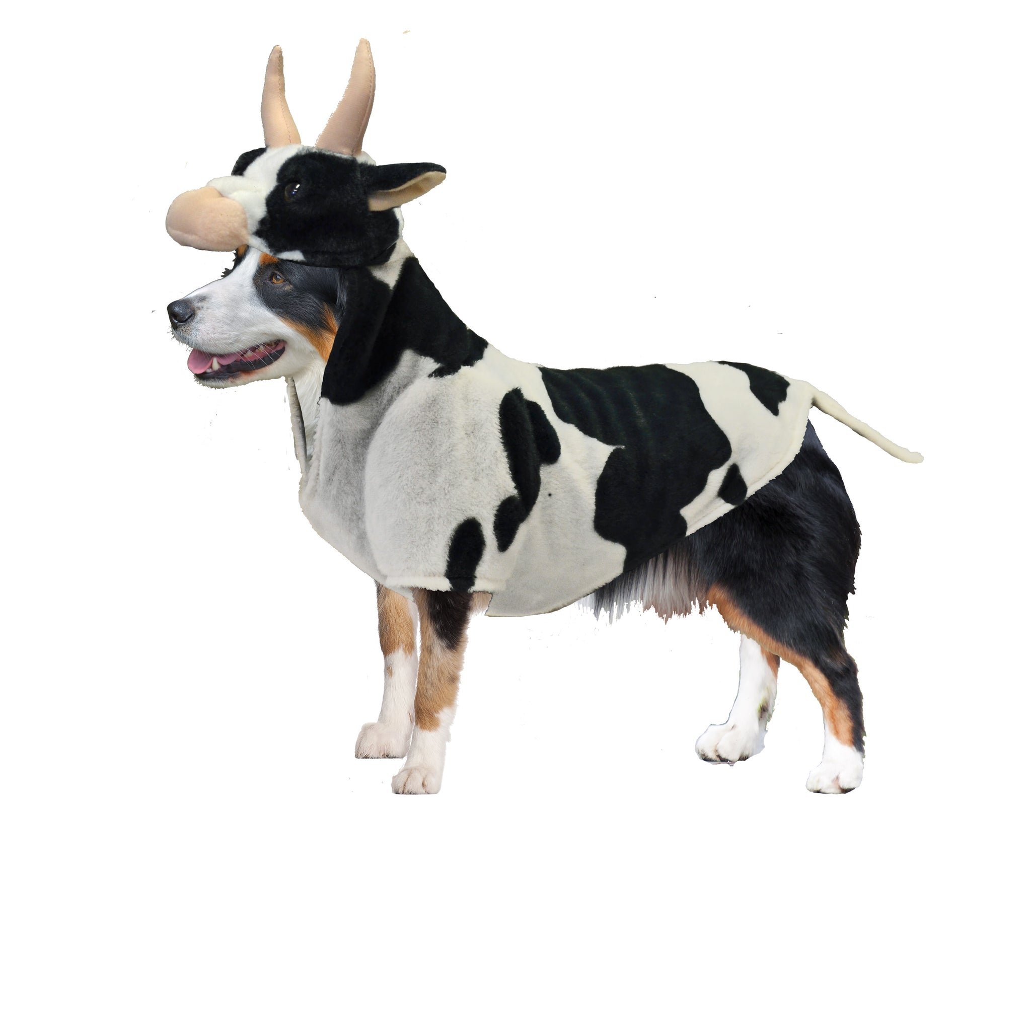 dog halloween costumes | barnyard cow costume – canine styles
