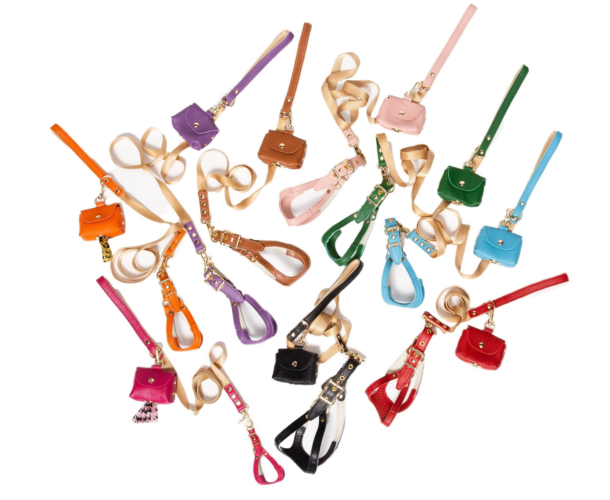 Dog Leads - Fine Leather Lead - 9 Color Options