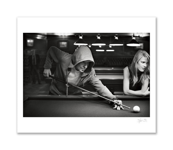 Bob Dylan Playing Pool, Paris, 2009 Archival Pigment Print