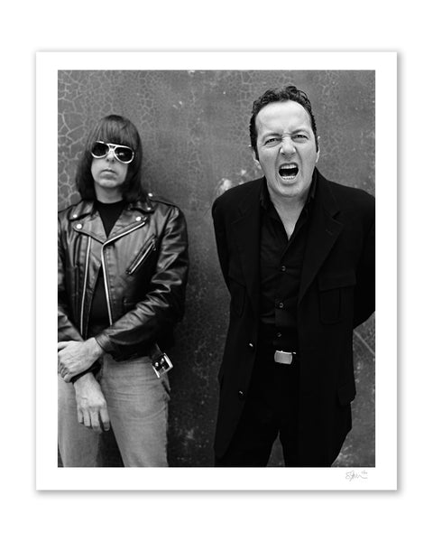 Joe Strummer & Johnny Ramone, 2001 Archival Pigment Print
