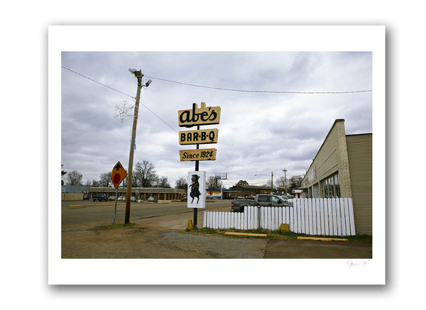 "Some Where Else ""Abe's Bar-B-Q, Clarksdale, Mississippi"" Archival Pigment Print"
