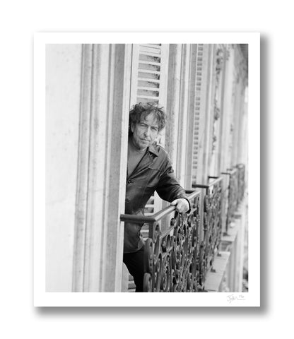 Bob Dylan on Ledge, Paris, 2009 Ledge Archival Pigment Print