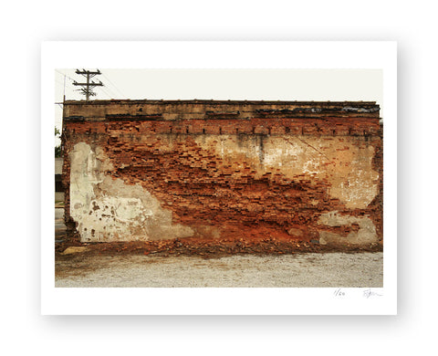 "Some Where Else ""Brick Wall, Coffeeville, Mississippi"" Archival Pigment Print"