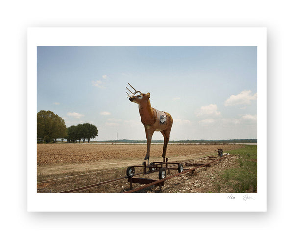 "Some Where Else ""Deer Target, Clanton, Alabama"" Archival Pigment Print"