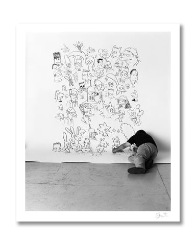 Matt Groening Drawing, Los Angeles, 1999 Archival Pigment Print