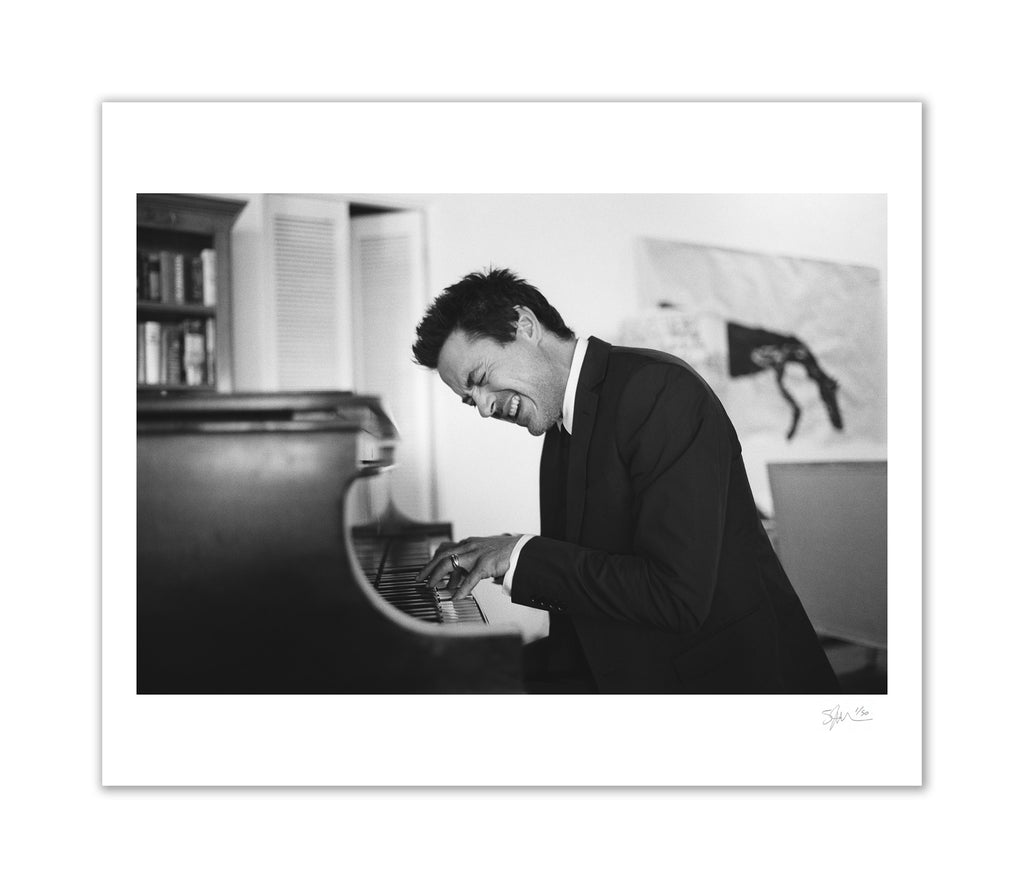 Robert Downey Playing Piano, Beverly Hills, CA, 2008 Archival Pigment Print