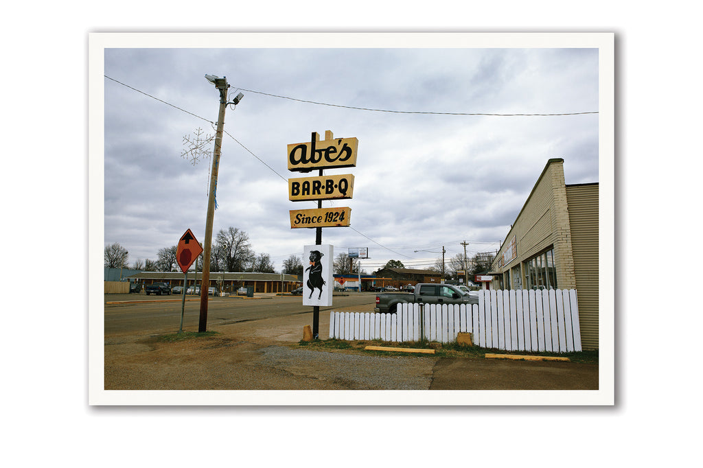 "Some Where Else Postcard ""Abe's Bar-B-Q, Clarksdale, Mississippi"""