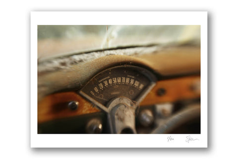 "Some Where Else ""Speedometer, Mississippi"" Archival Pigment Print"