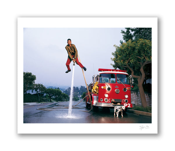Chris Rock with Firehose, 1997 Archival Pigment Print