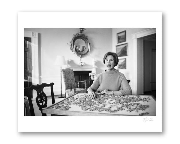 Laura Bush with Puzzle, Washington D.C., 2008 Archival Pigment Print