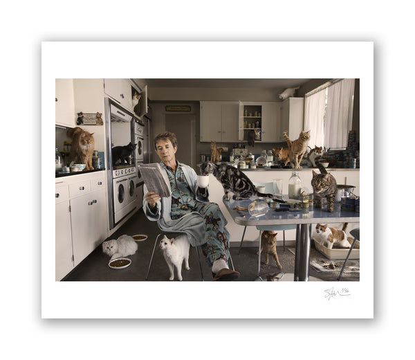 Martin Short with Cats, Beverly Hills, CA, 2012 Archival Pigment Print