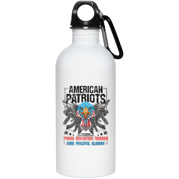 American Patriots Prefer Freedom - 20 oz. Stainless Steel Water Bottle