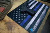 GUN CLEANING MAT GLOCK THIN BLUE LINE BLUE LIFES MATTER