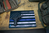 GUN CLEANING MAT GLOCK USA FLAG POLICE SUPPORT