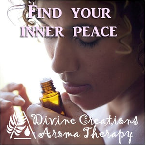 Find inner peace with essential oils. Diffuse, breathe deep, apply oils as perfume, relieve stress, anxiety