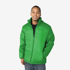Classic Combo Wholesale Adult Winter Coat in Green Sold in Bulk