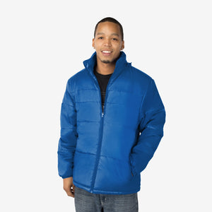 Classic Combo Wholesale Adult Winter Coat in Turkish Blue Sold in Bulk