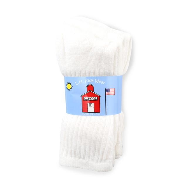 Kids Socks - White - Size 6-8 1/2