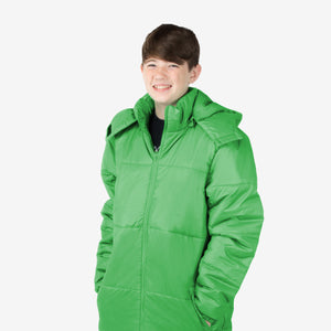 Wholesale Boy Coat Classic Combo in Green Sold in Bulk